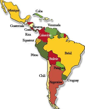 Une Carte De Lamerique Du Sud.Voyager En Amerique Du Sud Autrement