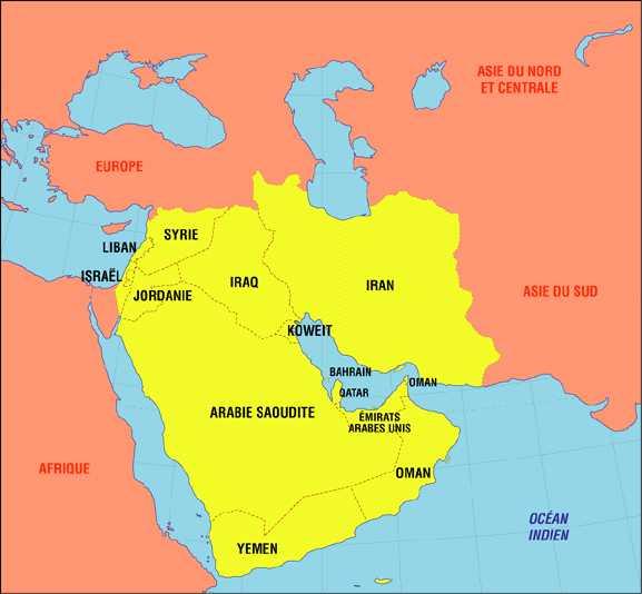 Carte Europe Moyen Orient Carte du Moyen Orient