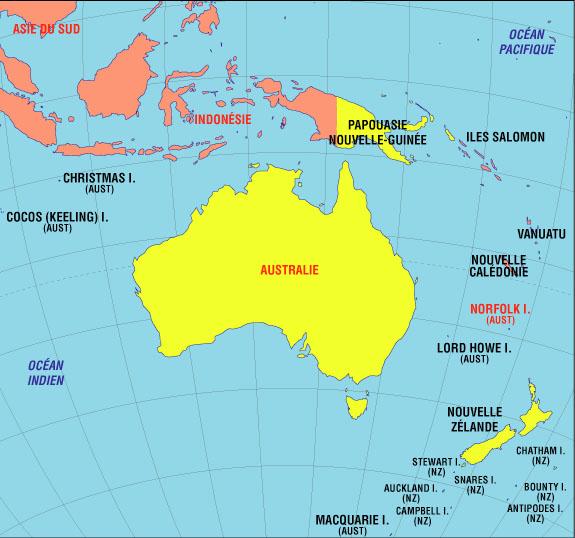 Carte Australie Et Iles Fidji.Voyager En Oceanie Autrement