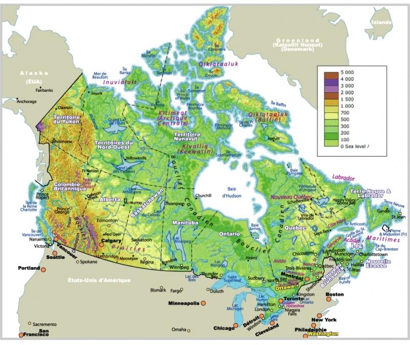 Canada carte touristique voyages cartes for Carte touristique